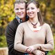Beautiful outdoor on-location autumn / fall family portrait session in Hyalite Canyon near Cottonwood near Bozeman, Montana.