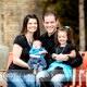 Beautiful, fun, downtown Pocatello family portraits.